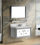 Edelstahl-Badezimmer-Schrank-Badezimmer-Eckschrank-weißer Großhandelsbadezimmer-Schrank (T-9574)