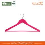 Venta al por mayor uso de ropa percha de madera para camisas (4lqj0010)