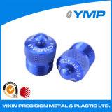 hecho personalizado gira CNC de piezas de aluminio anodizado azul