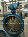 Клапан-бабочка литой стали Dn400 Py25 API/DIN/GOST ексцентрическая (D343H-DN400-25C)
