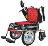 Cadeira de rodas elétrica de dobramento para enfermos