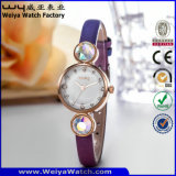 Kundenspezifische Firmenzeichen-Uhr-Quarz-Form-Dame-Armbanduhren (Wy-077E)