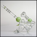 Multi-Style Tubos de vidrio verde Shisha Hookah Tazón de fumar pipa de agua al por mayor