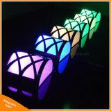 RGB LED 옥외 점화를 위한 태양 강화된 정원 담 빛