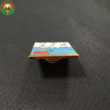 주문 금속 단단한 사기질 금 접어젖힌 옷깃 Pin