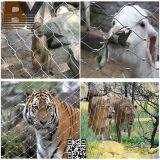 ステンレス鋼のフェルールケーブルの動物園ロープの網