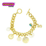 2018 Fashion Simple Gold Plated Infinity Charm Bracelet for Girls
