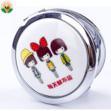 Mini-Metal promocionais Pocket espelho de maquilhagem com impressão de logotipo