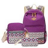 Bonita bolsa escola lona coloridos simples