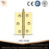 Dobradiça de porta de bronze da cabeça de coroa 1bb (HG-1034)