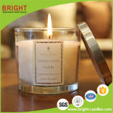 China Fábrica perfumada Velas de cera de soja de luxo com copo de vidro personalizada