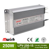15V 250W Wechselstrom wasserdichten LED Aluminiumfahrer zum Gleichstrom-SMPS IP67