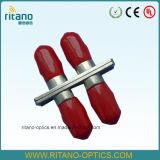 Adaptadores ópticos de fibra del St de la carrocería de pequeñas pérdidas del metal 0.2dB
