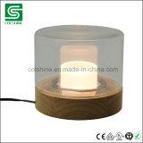 Luz impermeável de madeira da tabela da lâmpada de tabela do diodo emissor de luz de Dimmable do vintage com interruptor do toque