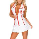 Hot Nuisette érotique Chemises filles infirmière cosplay costume uniforme Thong Hat Porn Baby Doll Lingerie Sexy costume de femme de ménage Teddy