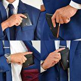 최신 판매 카드 홀더 호리호리한 지갑 남자를 위한 진짜 암소 가죽 지갑
