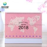 2018 calendarios de escritorio de la impresión del último papel/regalo de la promoción