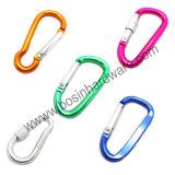 Zilveren Aluminium D-vormige ring Gevormde Carabiner