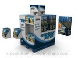 Estante de visualización laminado acanalado material de papel de suelo de la alta calidad para la leche