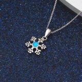 눈 꽃 형식 디자인 파란 단백석 펀던트 목걸이 도매 형식 보석 (561675389207)
