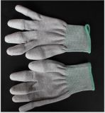 Перчатки ESD с белой ладонью PU покрыли