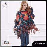 女性の方法ふさのカーディガンのポンチョのショールのセーター