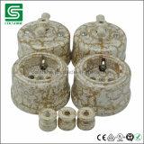 Socket de pared de cerámica retro europeo sin tierra