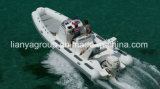 Liya 6,6 m de la coque en fibre de verre bateau gonflable bateau de patrouille militaire