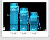 Bottiglia di acqua esterna di plastica della guarnizione di figura del PC variopinto quadrato del commestibile