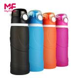 Personalizar ecológica reutilizable de silicona plegable plegable Sport 750ml botella de agua