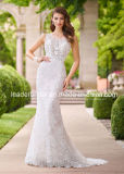 Robes de mariage fines de train de premier panneau de corsage de robes nuptiales de lacet fin de sirène Ra925
