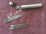 Ultralight портативные Titanium Toothpicks с цветом случая коробки установленным серебряным