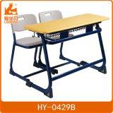 Doppelter Schreibtisch/Stuhl der Schule-Hy-0429 für Schule-Tender