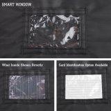 PVC Windowsが付いている黒い防水Foldableキャリアのオックスフォードの衣装袋