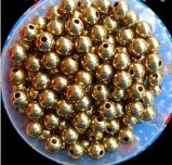 8mm 10mm 12mm gold plating Esfera de Aço com orifício perfurado