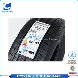 カスタム熱はペット強い付着力のタイヤのステッカーのラベルに抵抗する