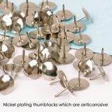 Commerce de gros de haute qualité Thumbtack à tête ronde de nickel