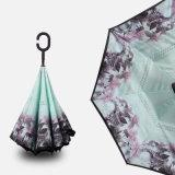 Ombrello pieno di sole piovoso antivento d'inversione di doppio strato di piegatura della nuova di modo maniglia creativa dell'C-Amo