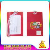 Подгонянная милая бирка багажа перемещения PVC шаржа для карточек восхождения на борт