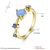 De eenvoudige Juwelen van de Manier van de Ring van de Vrouwen van het Ontwerp Goud Geplateerde