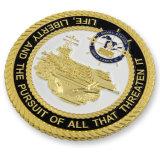단단한 사기질 미국 공동 도전을 각인하는 밧줄 가장자리는 화폐로 주조한다 (HST-SCS-120)