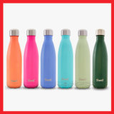 Настраиваемый логотип двойные стенки изолированный корпус из нержавеющей стали автоклавы вакуум-колы форму спорта отек бутылка воды