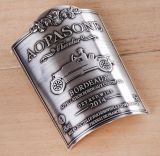 El más clásico de la botella de vino personalizada de diseño de etiqueta de metal