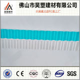 O PC UV da proteção corrugou o policarbonato ondulado circular 840mm da folha 930mm 1050mm para a tampa do telhado