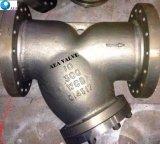 ANSI Standard150/300lbs flanschte y-Typ Filter-Grobfilter mit geschraubtem Ablass-Stopfen
