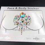 La moda de Rhinestones piel rostro seguro Joyería Tatuaje ojos Crystal Sticker Adhesivo temporal (SR-35)