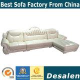 Königliche Art L Form-Wohnzimmer-Möbel-echtes Leder-Sofa (A841-1)