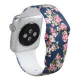 Correa de caucho de silicona Brazalete Pulsera de la banda de la correa de reloj para Apple Watch 38mm 42mm