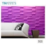 Panneau 3D insonorisé décoratif intérieur de fibre de polyester d'imperméabilisation d'incendie pour le cinéma/stade