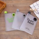Venda livre de BPA personalizado notebook portátil única garrafa de água plástica plana